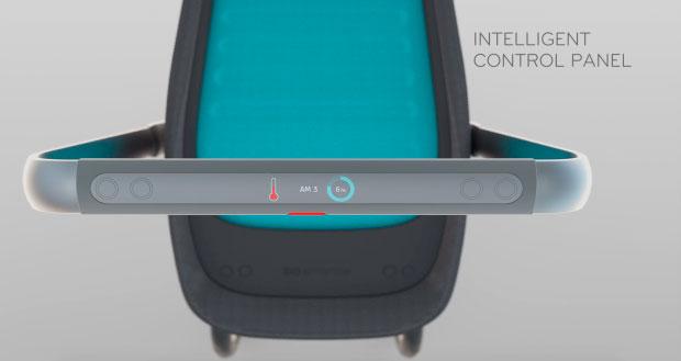 Умная коляска Smartbe - панель управления