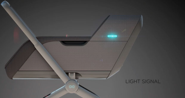 Умная коляска Smartbe - световые сигналы