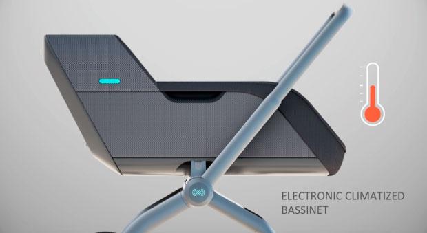 Умная коляска Smartbe - система климат-контроль
