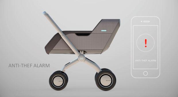 Умная коляска Smartbe - противоугонная система