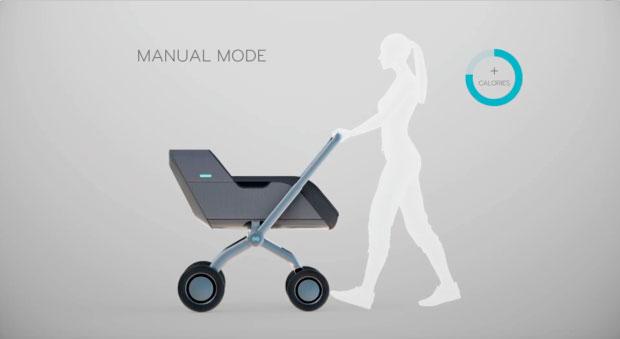 Умная коляска Smartbe - ручной режим управления