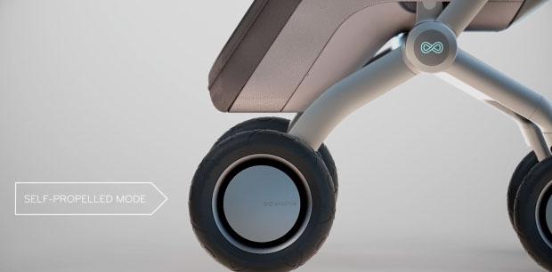 Умная коляска Smartbe - автозамедление и остановка