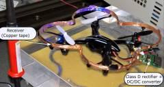 Дрон, здатний літати на бездротовій потужності без вбудованої батареї