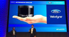 Технологии беспилотных авто Ford, радары Ultra Puck от Velodyne
